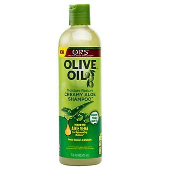 Organic Root Stimulator Olive Oil Creamy Aloe Shampoo 370ml x 3