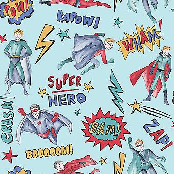 SuperHero wallpaper Blue Arthouse 696200