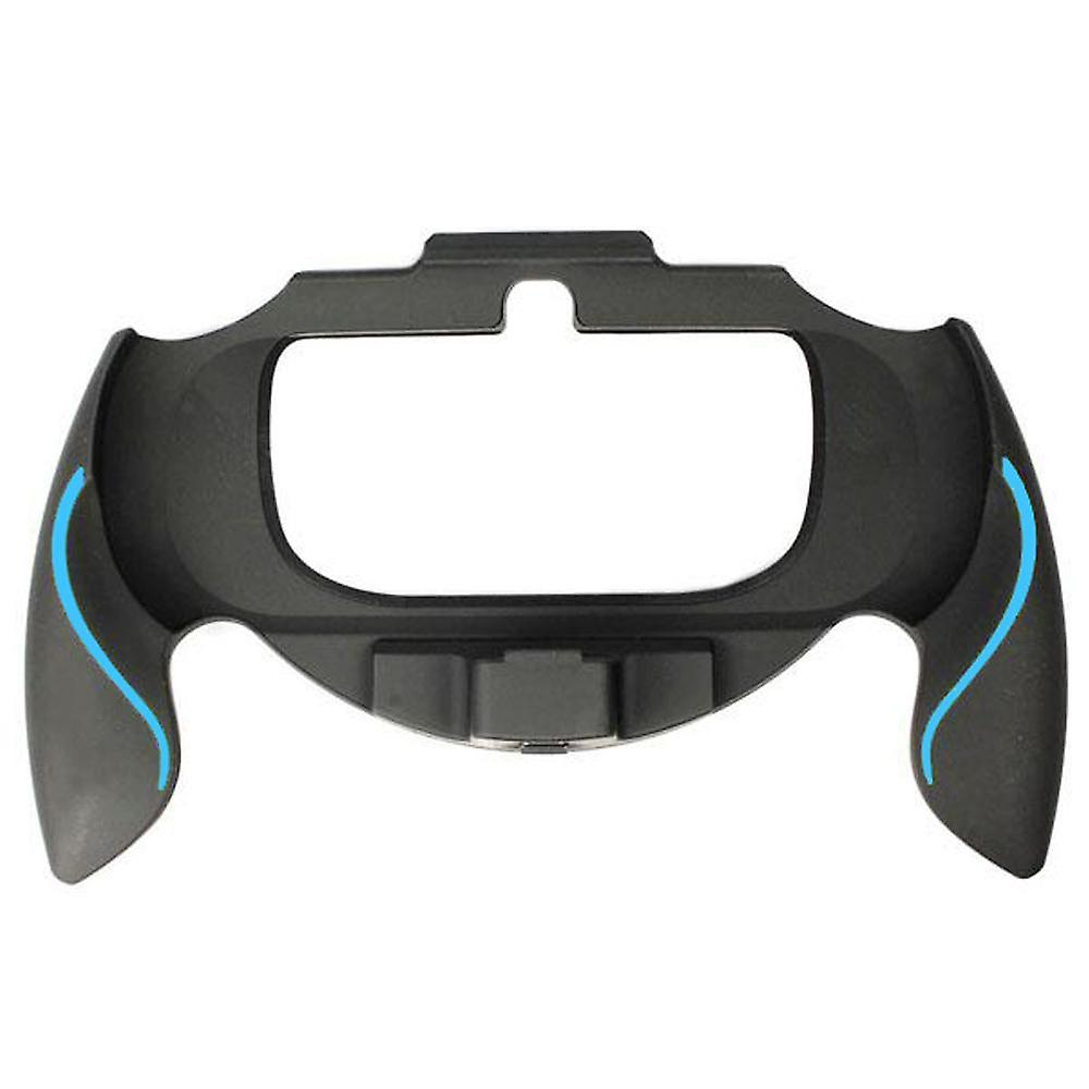 Soft touch controller grip handle attachment for sony ps vita 1000 & blue & black