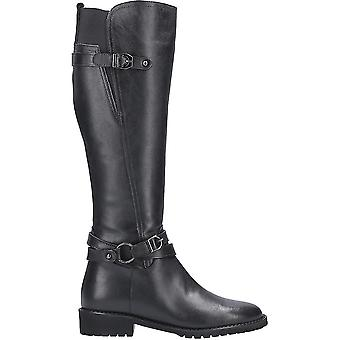 Riva Womens Athens Leather Buckle Zip Long Boot