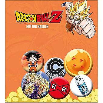 Dragon Ball Z Button badge sæt (pakke med 6)