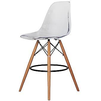 Charles Eames Style Clear Plastic Bar Stool