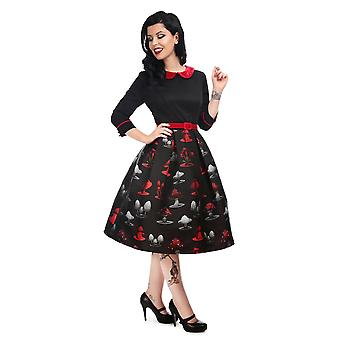 Collectif Vintage Women's Ada Poisoned Mushroom Swing Dress