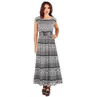 Pistachio Women's Aztec Print Long Maxi Summer Dress