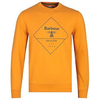 Barbour Beacon Mustard Yellow Diamond Print Sweatshirt