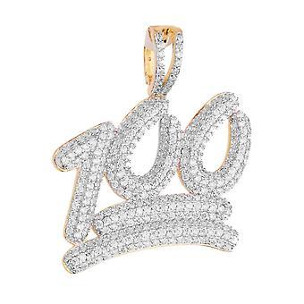 925 sølv mikro pave anheng - 100% gull