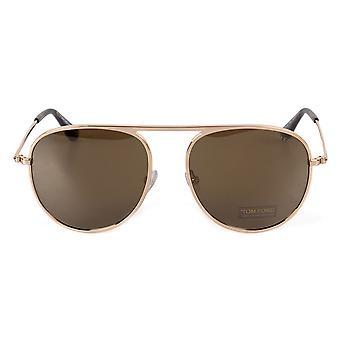Tom Ford Jason-02 FT0621 28L 57 Aviator Sunglasses