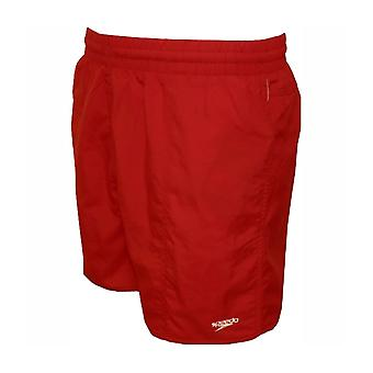 Speedo Men-apos;s Solid Leisure 16 Inch Shorts de natation - Rouge