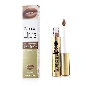 Grande Cosmetics (GrandeLash) GrandeLIPS Plumping Liquid Lipstick (Semi Matte) - # River Clay 4g/0.14oz