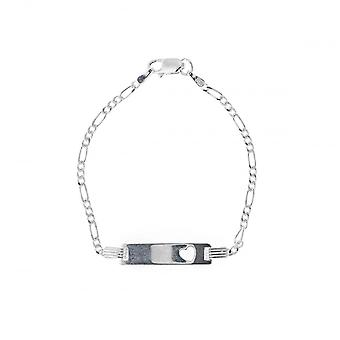 Eternity Sterling Silver Kids Identity Heart Bracelet