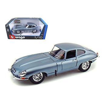 1961 Jaguar E Tipo Coupe Azul 1/18 Diecast Modelo Coche Por Bburago
