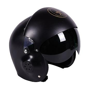 Casco casco pilota pilota pilota a pilota di caccia adulto deluxe Carnevale