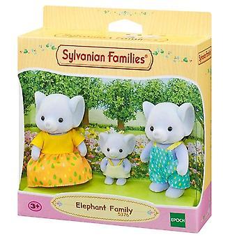 Sylvanian families 5376 elefant familie (3 figur)-børn legetøj