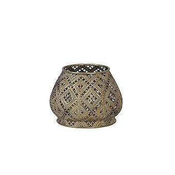 Light & Living Tealight 13.5x10cm - Mawar Antique Gold