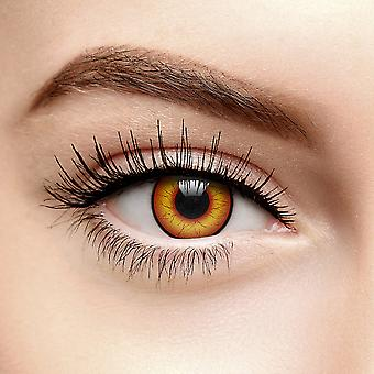Red Crazy Clown Colored Contact Lenses (Daily)