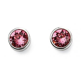 Joshua James October Birthstone Swarovski Tourmaline Stud Earrings