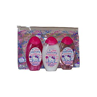 Olá Kitty Mini Travel Set Shower Gel, Shampoo e loção corporal 50ml