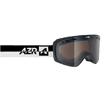 AZR Ski Mask Cyber OTG Black Mat Brown Silver