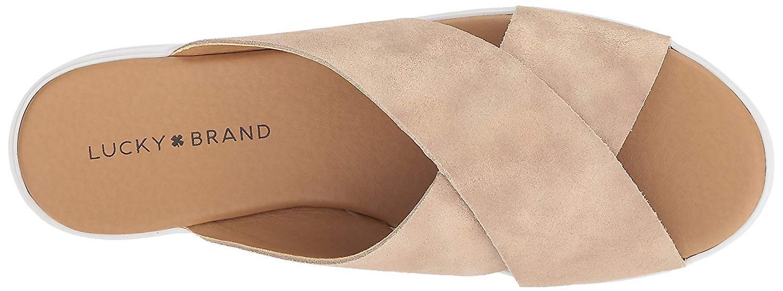 Lucky Marke Frauen Mahlay Stoff Peep Toe Casual Slide Sandalen