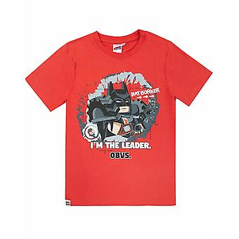 T-shirt Lego Movie 2 Boys Batman I'm The Leader Obvs Kids Top