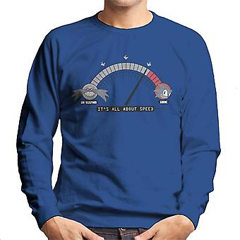 Sonic The Hedgehog Its All About Speed Men's Sweatshirt