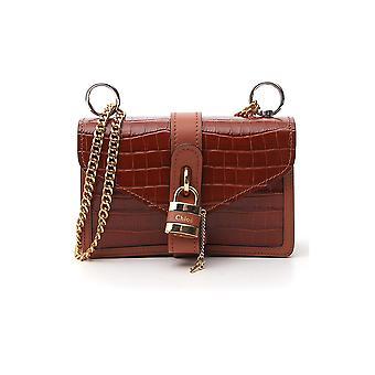 Chloé Chc19ws206a8726k Women's Brown Leather Shoulder Bag