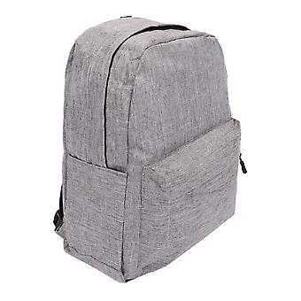 Sac à dos de base Unisex Uni School Bag Rembourré Voyage Work Laptop Boy Girl Noir