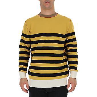 Marni Gcmg0086q0s16851rgy16 Men's Yellow/black Wool Sweater