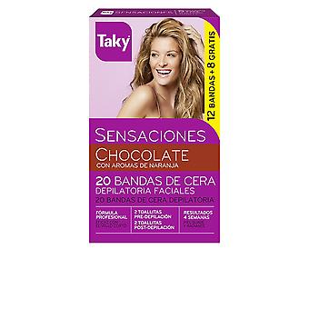 Falfoul chocolat Bandas De Cera Faciales Depilatorias Uds 12 + 8 pour les femmes