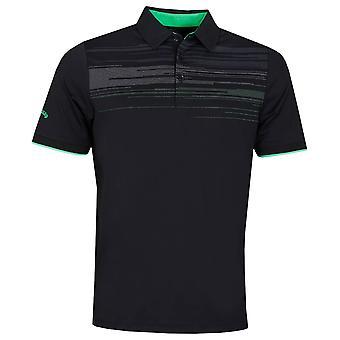 Callaway Golf Mens 2020 Schouder Digitale Print Vocht afvoerengolf polo shirt