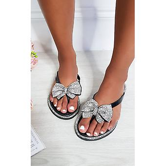 Sandali IKRUSH Donna Nina Diamante Bow Flip Flop