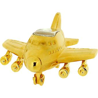 Miniature Goldtone Jumbo Jet Style Aeroplane Novelty Collectors Clock IMP1015