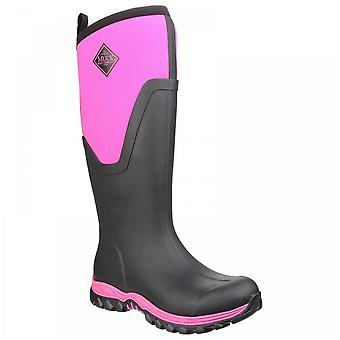 Muck Boots Ladies Arctic Sport Ii Black + Pink Fleece Lined Tall Wellington Boots