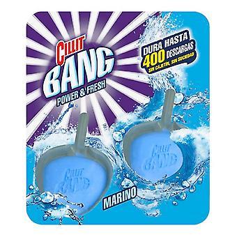 Cillit Bang Power et Fresh WC Marine Air Freshener et Toilet Bowl Cleaner Clip sur les onglets (Pack of 2)/x1