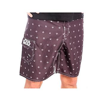 Star Wars - Rebel Pattern Men Swimshorts - Black