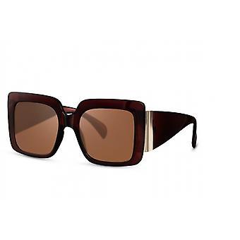 Sonnenbrillen  Damen Schmetterling Kat.3 rot/braun (CWI1941)