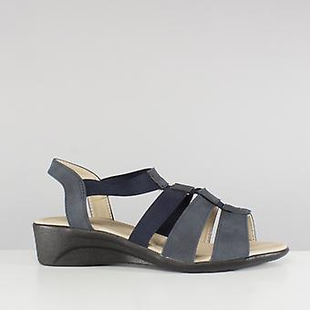 Dr Keller Madelaine Ladies Strappy Wedge Sandals Navy