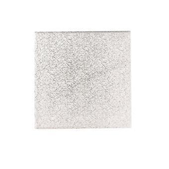 Culpitt 9&(228mm) Double Thick Square Turn Edge Cake Cards Silver Fern (3mm Tjock) Förpackning med 25