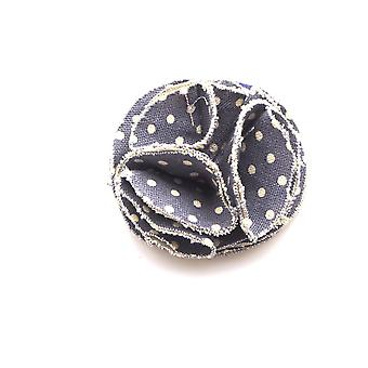 Hettie ladies hair bobble denim spot