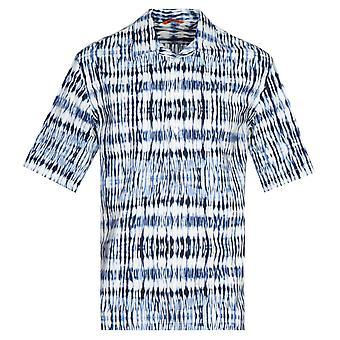 Barena Camicia Mola Tai blå kortermet skjorte