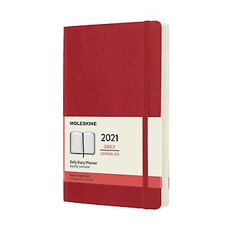 2021 12M Daily Ntbk Lrg Scarlet Red Soft