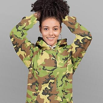 All-Over Print Unisex Hoodie | Light Green Camouflage