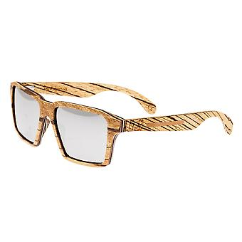 Earth Wood Piha Polarized Sunglasses - Zebrawood/Black