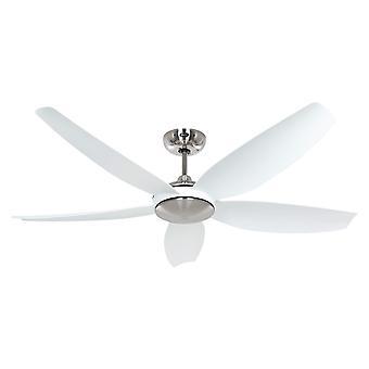 DC ceiling fan Eco Volare 142 Chrome / White