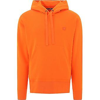 Acne Studios 2hk173darkorange Uomini's maglia di cotone arancione