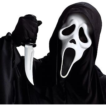 Ghost Face Mask W/Knife For Adults