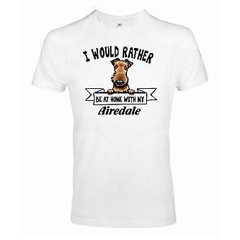 Airedale patrząc t-shirt dla psa - Raczej być z ...