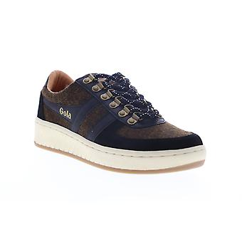 Gola Ascent Low  Mens Brown Suede Lace Up Lifestyle Sneakers Shoes
