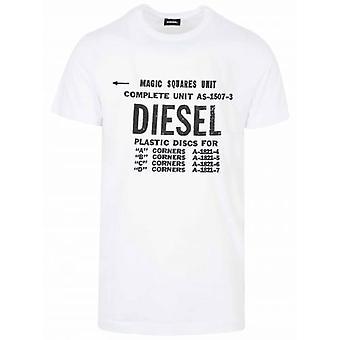 Diesel valkoinen uusi Diego logo T-paita
