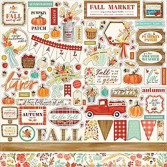 Carta Bella Fall Market 12x12 Inch Element Sticker